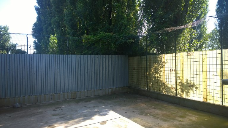 parte di cemento dei recinti